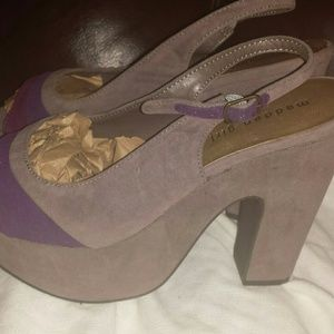 Beautiful suede Steve Madden sling back heels